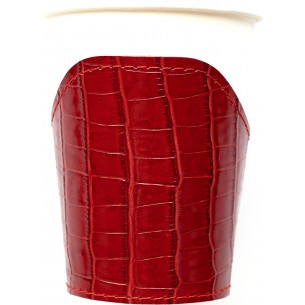 Cup Crocodile pattern Leather Sleeve