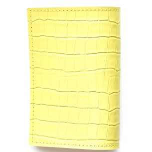Passport Crocodile pattern Leather Sleeve