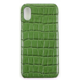 "IPHONE ""X"" COVER CROCO Pattern Leather"