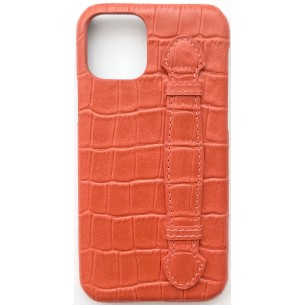 IPHONE COVER CROCO Pattern Leather