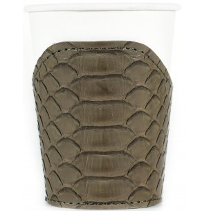 Cup Python Leather Sleeve
